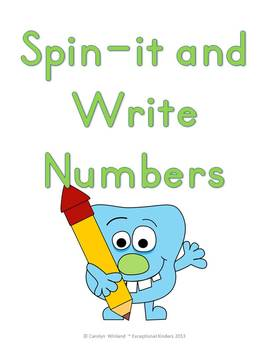 Spin-It and Write Numbers