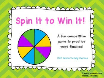 Spin It to Win It! CVC Word Family Games