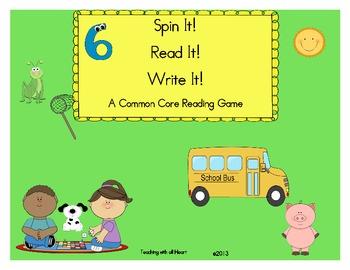 Spin It...Read It...Write It!
