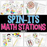 Spin-Its Math Stations YEARLONG Mega Bundle - Grade 2