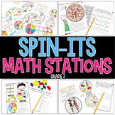 Spin-Its Math Stations YEARLONG Mega Bundle - Grade 2