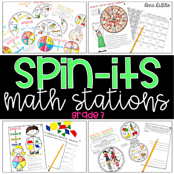 Spin-Its Math Stations YEARLONG Mega Bundle - GRADE 3