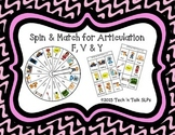 Spin & Match for Articulation F, V, & Y