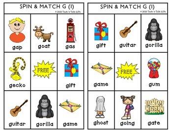 Spin & Match for Articulation K G