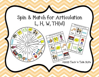 Spin & Match for Articulation L, H, W, TH(vl)