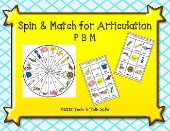 Spin & Match for Articulation: P, B, M