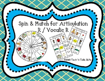 Spin & Match for Articulation R / Vocalic R