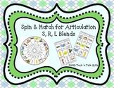 Spin & Match for Articulation S, R, L Blends