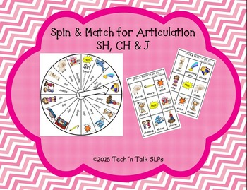 Spin & Match for Articulation SH, CH & J