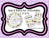 Spin & Match for Articulation T, D & N