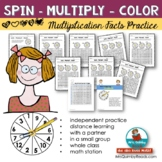Multiplication Fact Practice | Spin-Multiply-Color [Math Activity]