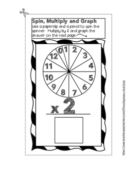 Spin, Multiply, and Graph ~ Fact Practice Activity for Interactive Notebooks