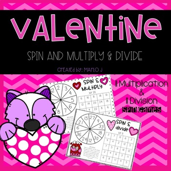 Spin & Multiply or Divide Valentine Themed