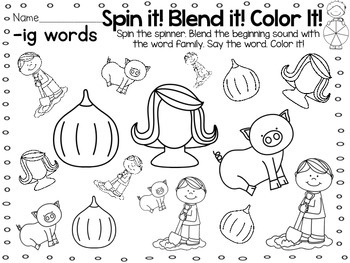 Spin-N-Blend CVC Words {Short i }