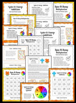 Spin-N-Bump Task Card Game