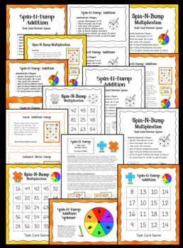 Task Cards Game: Spin-N-Bump