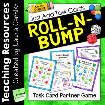 Roll-N-Bump Game | Just Add Task Cards to Customize