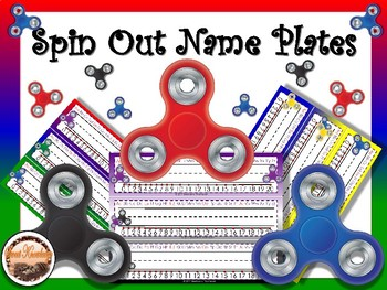 Spin Out Name Plates (Editable)