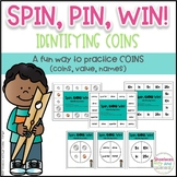Identifying Coins Game ~ Spin, Pin, Win!