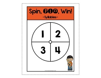Syllables Game ~ Spin, Pin, Win!