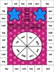 Spin, Read, Find and Color Game- Short Vowels