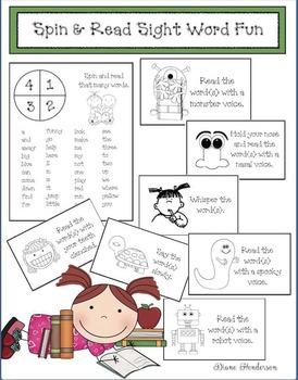 Spin & Read Sight Word Fun