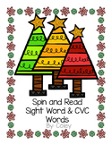 Spin & Read Sight Words & CVC Words (Winter Tree Edition)