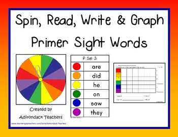 Spin, Read, Write and Graph Dolch Sight Words Primer