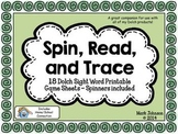 Spin, Read, and Trace {18 Dolch Sight Word Printable Games & Spinners}