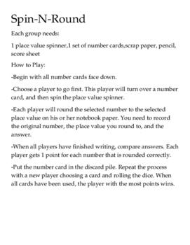 Spin & Round Rounding Decimal Game