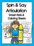 Spin & Say Articulation {Coloring Sheets & Smash Mats}