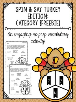 Spin & Say Turkey Edition: Category {FREEBIE}