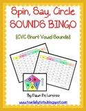 Spin, Say,Circle Sounds BINGO Word Work Center {CVC Edition}
