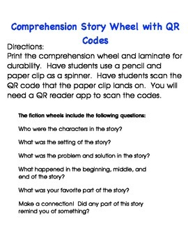 Spin, Scan, and Respond: Comprehension Story Wheel with QR Codes