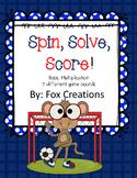 Spin, Solve, Score Multiplication Fluency Game - Easy Prep & Differentiate