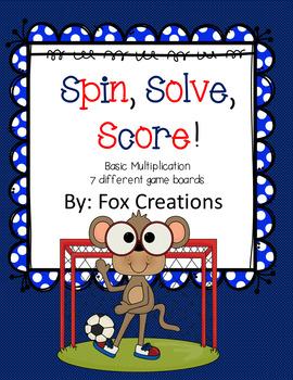 Spin, Solve, Score Multiplication Fluency Game - Easy Prep