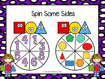 Spin Some Sides:  NO PREP Flat Shape Spin Game