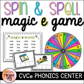 Spin & Spell: Magic E / CVCe Phonics Game