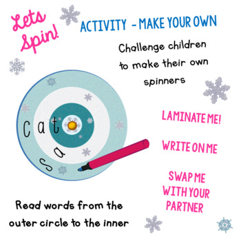 Spin & Spell - Phonics - CVC Short Vowel A - Activity