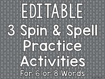 Spin & Spell Practice Activities