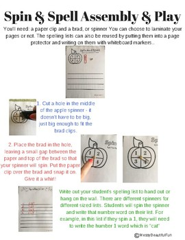 Spin & Spell The Words Apples Edition!