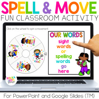 Spin, Spell and MOVE! activities for spelling and sight words