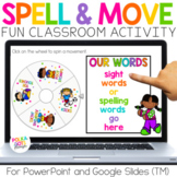 Digital Spelling Activities for any list PowerPoint & Goog