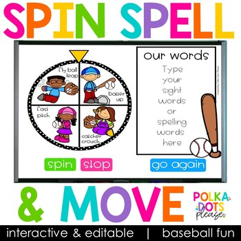 Spin, Spell and MOVE! Baseball Edition