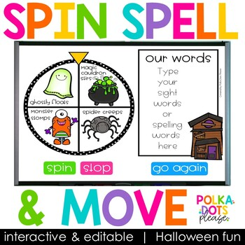 Spin, Spell and MOVE! Halloween Edition