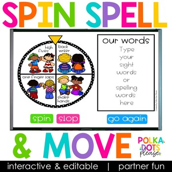 Spin, Spell and MOVE! Partner Edition
