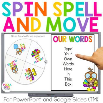 Spin, Spell and MOVE! Turkey Thanksgiving Edition