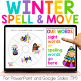 Digital Winter Snow Spelling Activities for any list | Pow