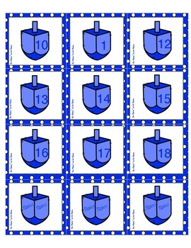 Spin! Spin!! A Hanukkah Themed Higher Number Game