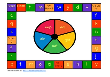Spin To Win Vowel Team Word Families - Real and Nonsense Words